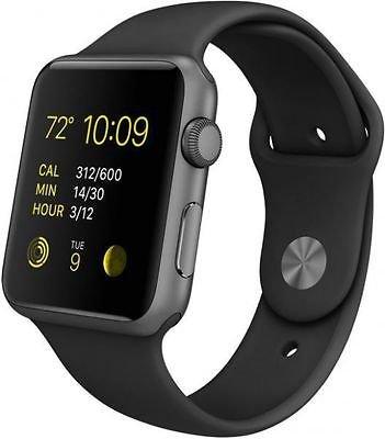 Apple Watch Sport 42mm Space Gray Aluminum Case Black Sport Band