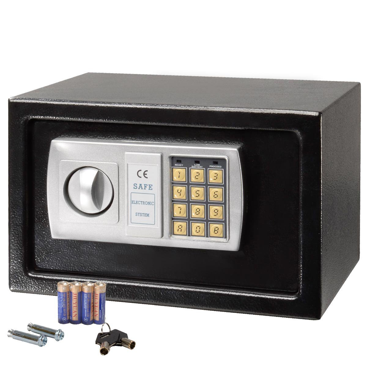 12 5 electronic digital lock keypad safe box cash jewelry gun safe black new. Black Bedroom Furniture Sets. Home Design Ideas