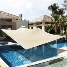 18' x18' Deluxe Square Sun Shade Sail UV Top Outdoor Canopy Patio Lawn Beige New