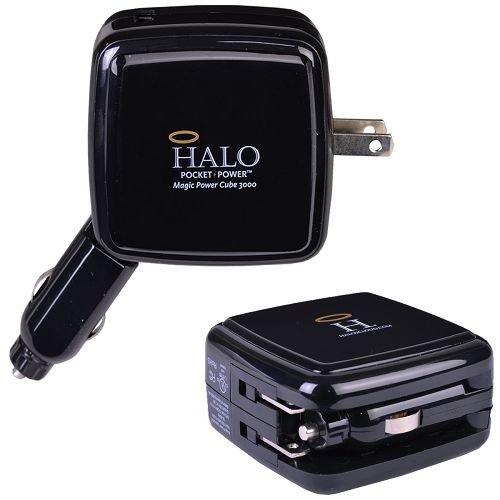 Halo Magic Power Cube 3000 Power Bank Amp Wall Car Charger