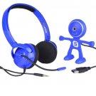 Binatone Freetalk Starter Kit for Skype 720p HD USB Webcam 3.5mm Stereo Headset