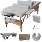 """84""""L Massage Table Portable Facial SPA Bed W/Sheet+Cradle Cover+2 Bolster+Hanger"""