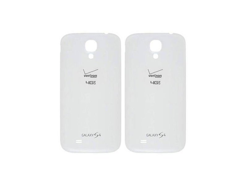Lot of 2 Genuine Verizon 4G LTE Samsung Galaxy S4 i545 Battery Back Door White