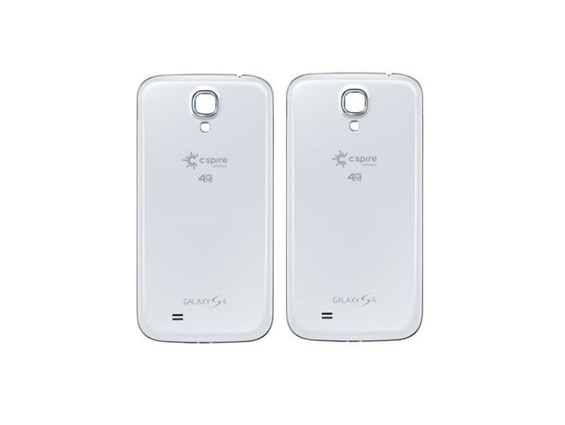Lot of 2 Genuine Samsung Galaxy S4 Cspire Wireless Battery Back Door White