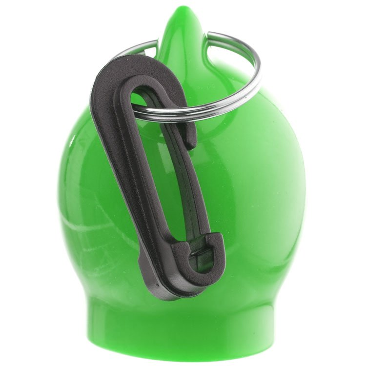 Scuba Dive Regulator Octopus Octo Holder Mouthpiece Cover with Clip - Ball Type Green