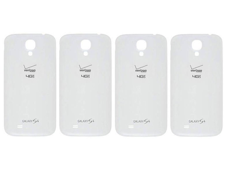 Lot of 4 Genuine Samsung Galaxy S4 i545 Verizon 4G LTE Battery Back Door White