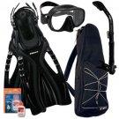 Frameless Mask Dry Snorkel Fins Bag Dive Gear Gift Set