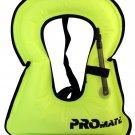Promate SNORKEL VEST Adult Large 150 - 240 lbs Neon Yellow Snorkeling Jacket