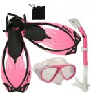 Promate Sea Viewer Snorkeling Diving Gear Package Gift Set Pink