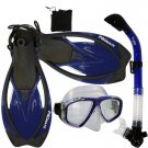 Promate Sea Viewer Snorkeling Diving Gear Package Gift Set Blue