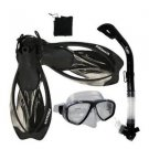 Promate Scuba Snorkeling Diving Gear Travel Combo Set Black