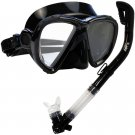 NEW Scuba Diving Matrix Mask Dry Snorkel Snorkeling Set Black
