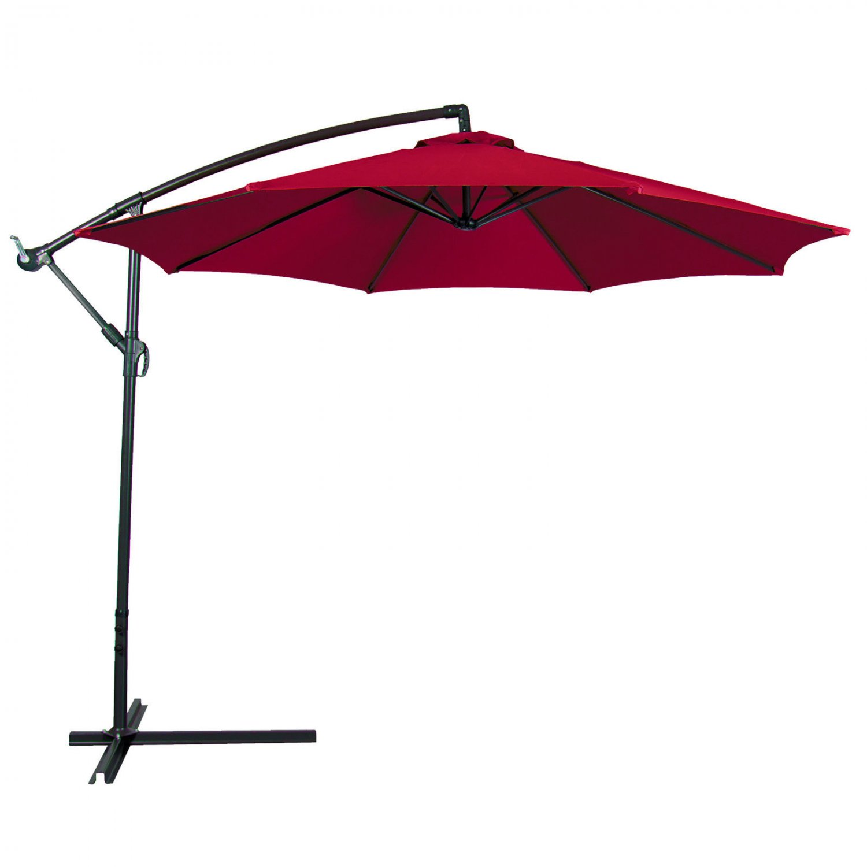 Patio Umbrella Offset 10' Hanging Umbrella Outdoor Market Umbrella Red