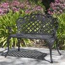 Patio Garden Bench Cast Aluminum Outdoor Garden Yard Solid Construction