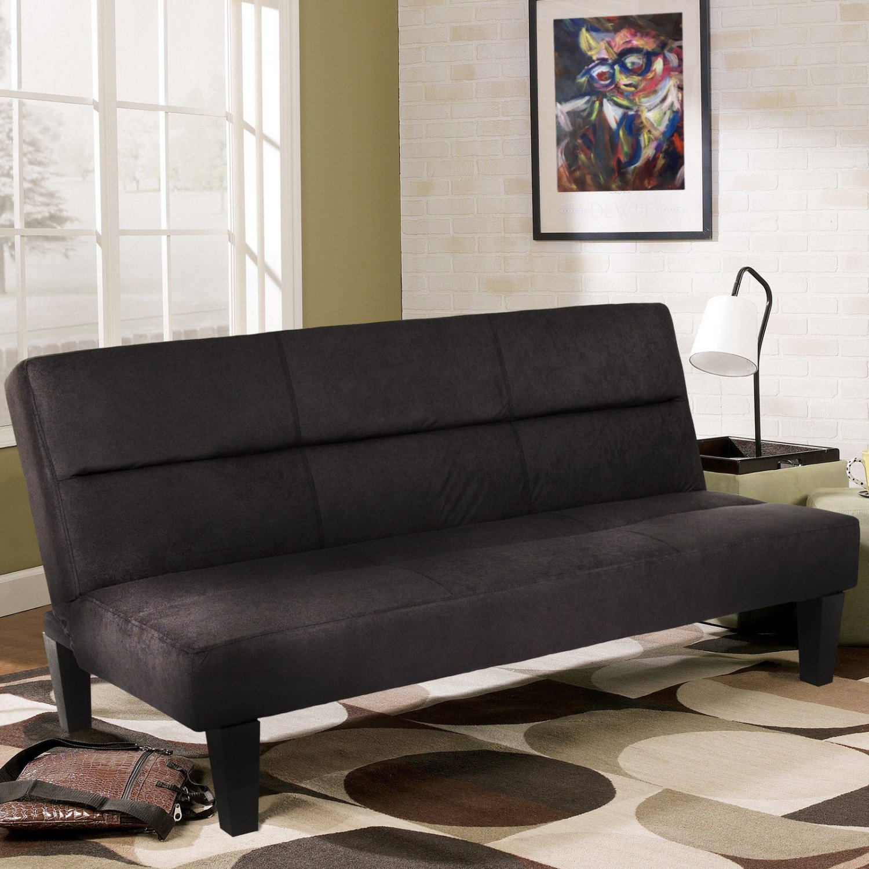 Microfiber Futon Folding Couch Sofa Bed w/ 6