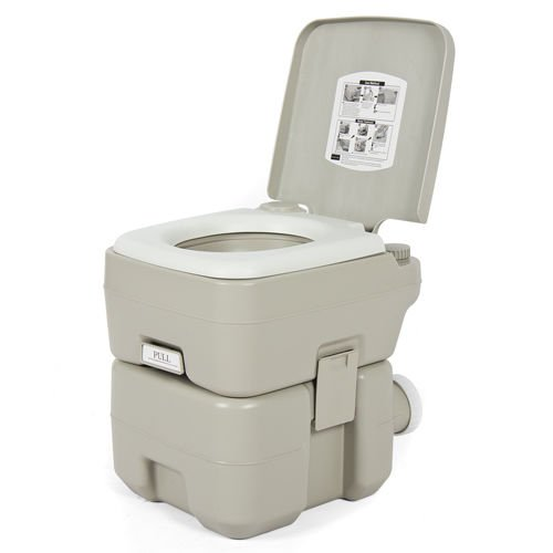 Portable Toilet 5 Gallon Dual Spray Jets Travel Outdoor Camping Hiking Toilet