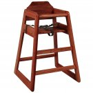 High Grade Wood Baby High Chair Kids Restaurant Stackable Infant Booster Seat