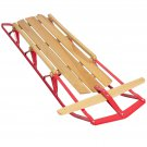 Wood Snow Sled Scooter Toboggan Wooden Sledge Ski Sliding Snowboard Outdoor