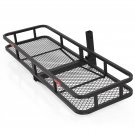 "60"" Folding Cargo Carrier Luggage Rack / Hauler Truck or Car Hitch 2"" Receiver"