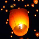 White Paper Chinese Lanterns Sky Fly Candle Lamp for Wish Party Wedding