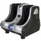 Shiatsu Kneading Foot Calf Leg Massager Vibration Heating Rolling Massage Black