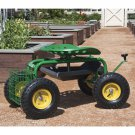 Garden Cart Rolling Work Seat With Tool Tray Heavy Duty Gardening Planting