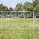 12' x 6' Soccer Goal With Net, Velcro Straps, Anchor Large Soccer Goal Sports