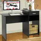 Student Computer Desk Home Office Wood Laptop Table Study Workstation Dorm Bk