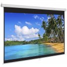 "119"" Manual Projector Screen 84""X84"" Pull Down Projection Home Movie Theater"