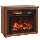 Large Room Infrared Quartz Electric Fireplace Heater Honey Oak Finish