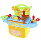 Kids Toy Tool Box Pretend Playset with Sound & Lights Compact Portable