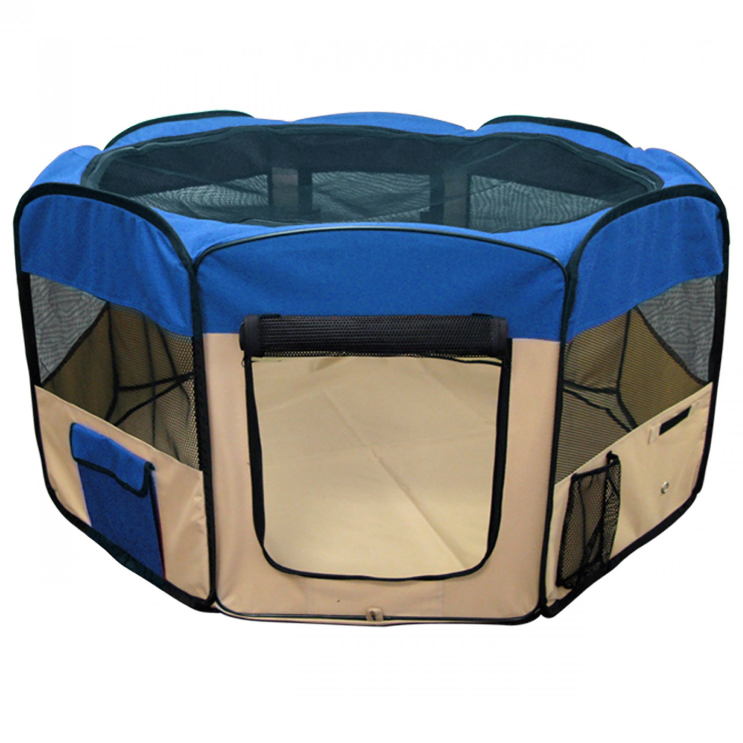 "Pet Playpen 45"" Exercise Puppy Dog Pen Kennel Folding Design Easy Storage Blue"