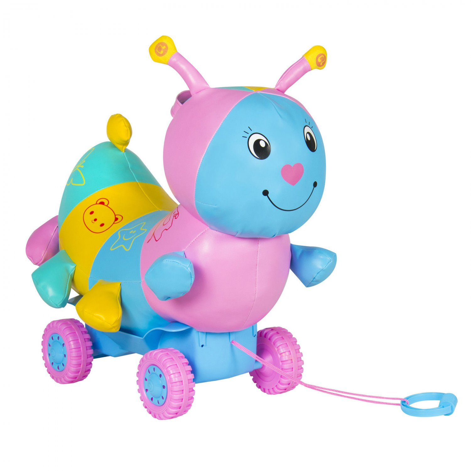 Educational Musical Ride On Toy Caterpillar Car W/ Wheels Kids Child Toys