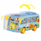 Kids Toy Electric Shaking Musical School Bus With Flashing Lights, Bump and Go