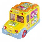 Toy Educational Musical Yellow School Bus Bump'n'Go, Headlights, Music and Games