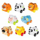 Push and Go Friction Powered Animal Cars, Panda, Lion, Dog and More Set of 8