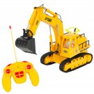 Remote Control RC Excavator Tractor Construction Truck 7 Channel Lights & Sound