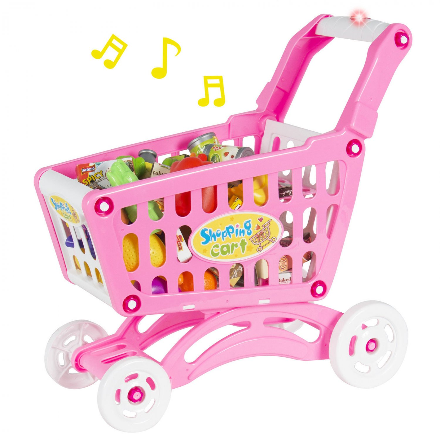 Walmart Toys Food : Musical shopping cart pretend play toy with food fruits