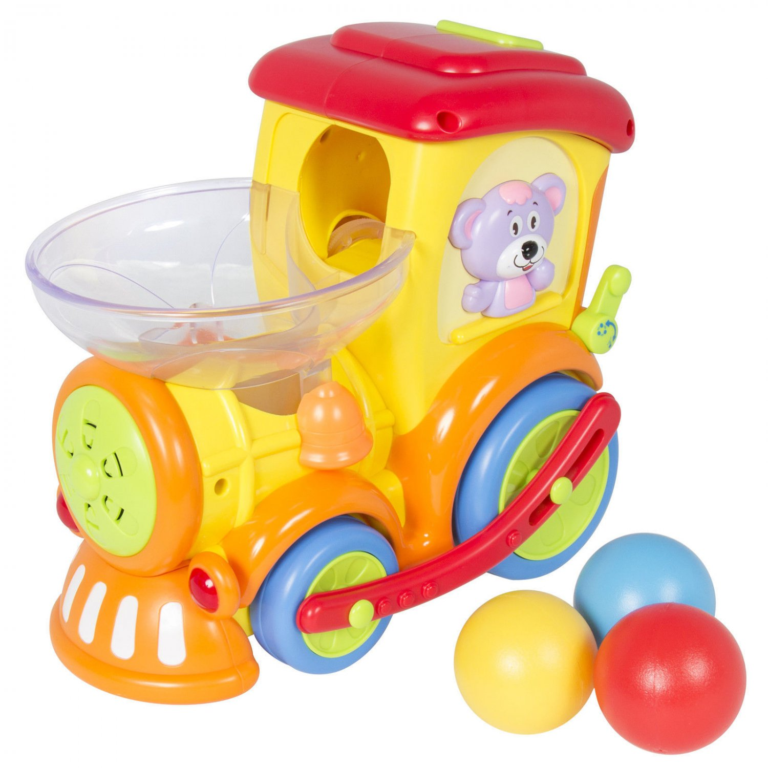 Electric Moving Train Toy With Chasing Balls Activity Lights Talks and Sings