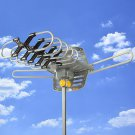 Outdoor Rotor HDTV Remote Amplified Antenna 360° UHF/VHF/FM HD TV 150 Miles