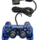 New Blue Twin Shock Game Controller Joypad Pad for Sony PS2 Playstation 2