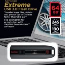 SanDisk Extreme 32GB USB 3.0 Flash Drive SDCZ80-032 Read 245MB Write Up To 100MB