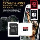 SanDisk 32GB Extreme PRO microSD micro SDHC SD Card 95MB/s Class 10 UHS-1 U3