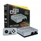 New Retron 1 NES System Top Loader Silver + 2 Controllers Nintendo Console