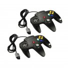 X2 New Black Long Handle Controller Pad Joystick for Nintendo 64 N64 System