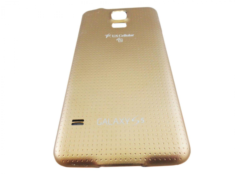 Genuine Original Samsung Galaxy S5 Battery Back Door Cover U.S. Cellular - Gold