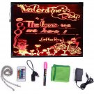 "32"""" x 24"""" Flashing Illuminated Erasable Neon LED Message Writing Sign Board Menu"