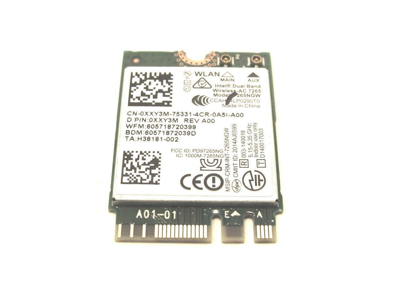 Original Dell Inspiron 13-7347 Intel Dual Band Wireless AC 7265 7265NGW XXY3M