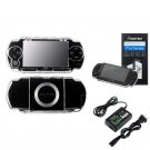 New Sony PSP 1000 Crystal Hard Case Cover + LCD Screen Protector + Travel Charger