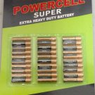 New OEM 30 Per Pack Powercell AAA 1.5V Super Extra Heavy Duty Batteries